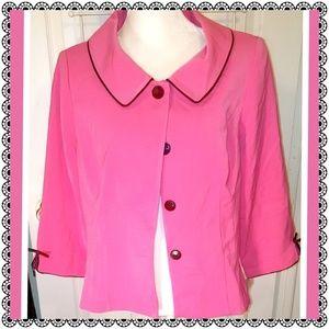 {Plaza South - Dillard's} pink blazer/jacket sz 14